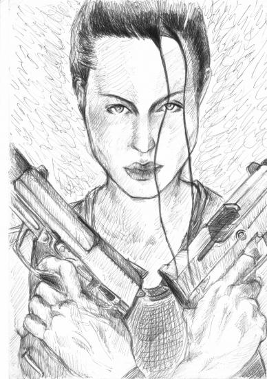 Angelina Jolie par yvonnick